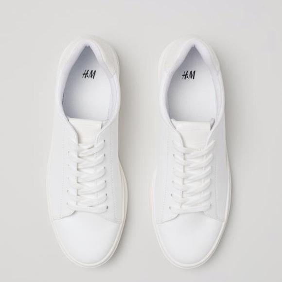 H\u0026M Shoes | Hm White Sneakers | Poshmark